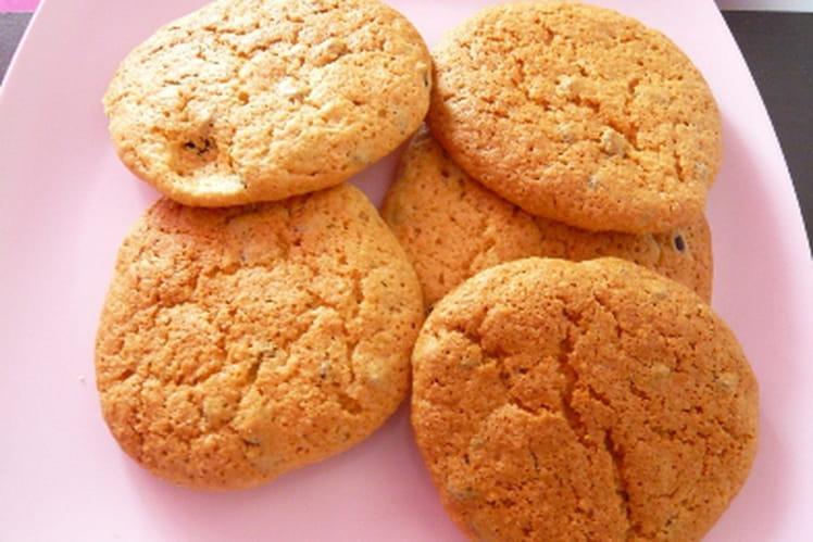 Cookies aux amandes et pépites de chocolat