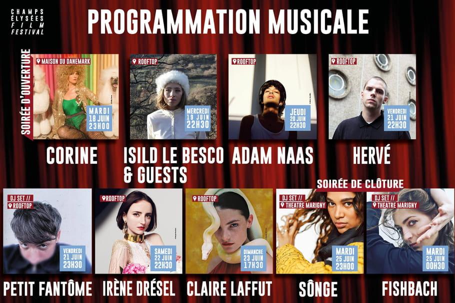 Champs Elysées Film Festival: Corine, Fishbach, Songe tiennent l'affiche
