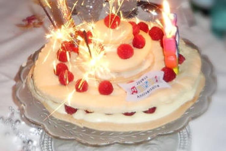 Macaron géant d'anniversaire