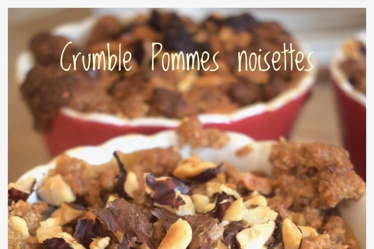 Crumble pommes noisettes
