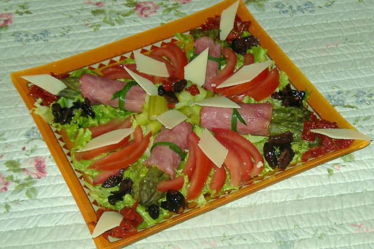 Salade composée asperges-bacon