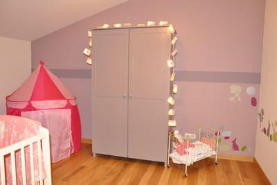 la chambre de la petite fille