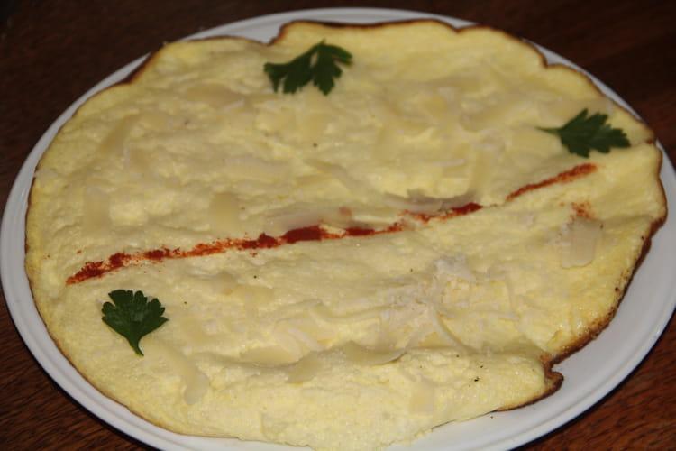 Omelette soufflée au parmesan à l'ancienne