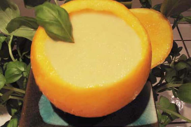Orange givrée