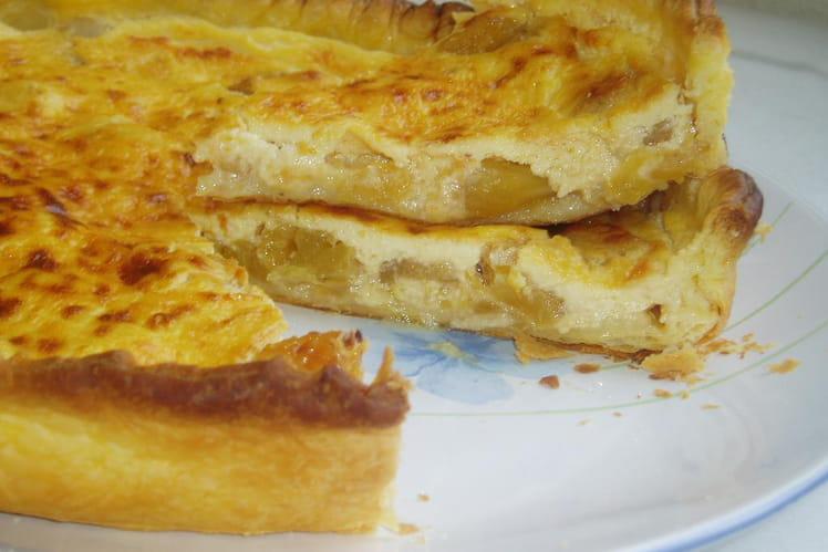 Tarte à l'ananas frais parfumée au gingembre