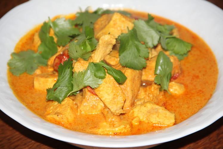 Poulet à l'indienne parfumé aux épices