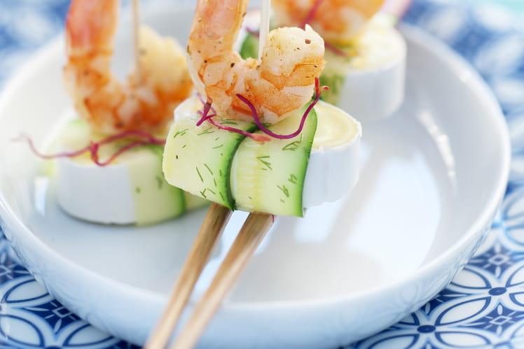 Sushi En Cas de Caprice courgette et crevettes grillées