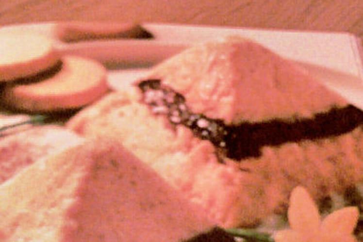 Duo de mousse de macarons et crème de chocolat