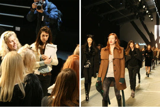 Fashion week : défilé Guy Laroche, prêt-à-porter automne-hiver 2011-2012 le podium