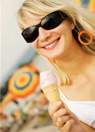 les glaces font partie des petits plaisirs de l'été mais n'en abusez pas.