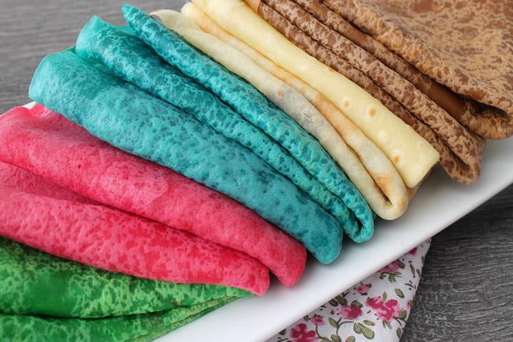 Crêpes moelleuses colorées