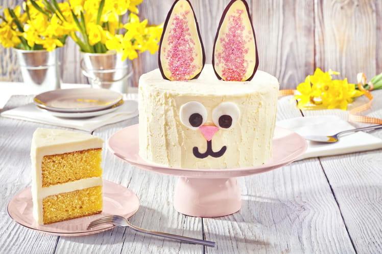 Gâteau lapin de Pâques au chocolat blanc