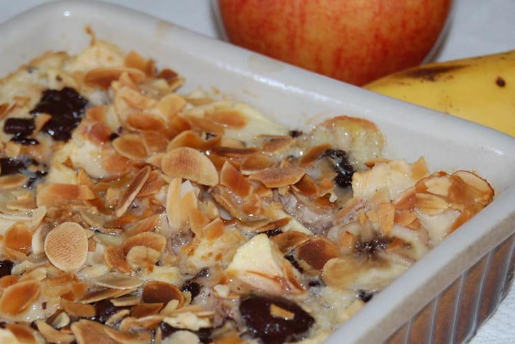 Clafoutis pommes-bananes-chocolat