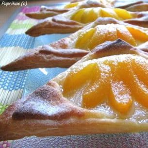 triangles feuilletés amandes-abricots