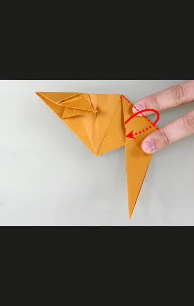 Origami chat - Etape 21