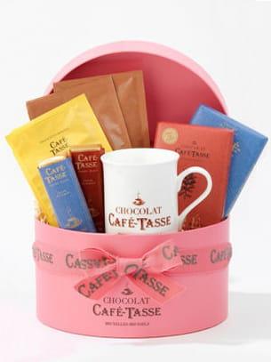 boîte à chapeau de café-tasse