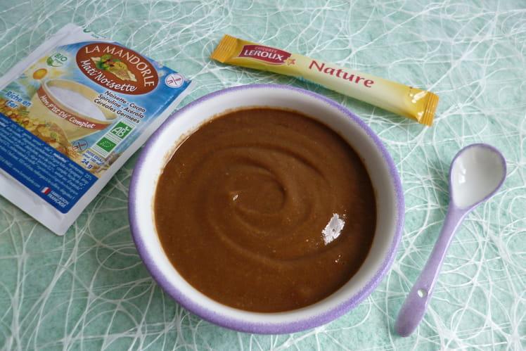 Crème dessert noisette amande cacao chicorée