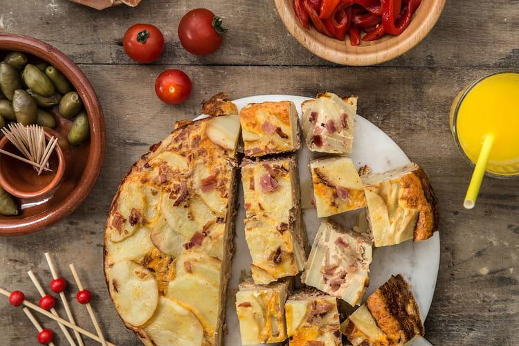 Tortilla espagnole au jambon Serrano Aoste