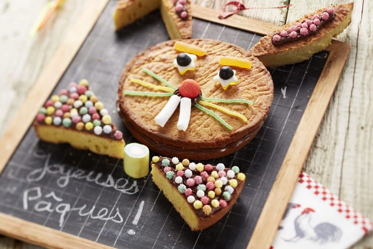 Lapin de Pâques en Gâteaux Bretons, pâte à tartiner et guimauve