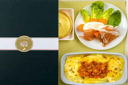 Le menu Italia en classe éco et premium d'Air France