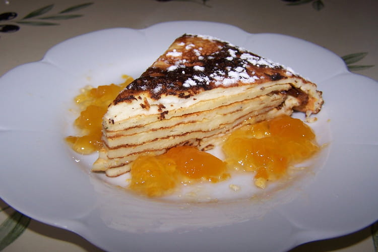 Gâteau de crêpes nature