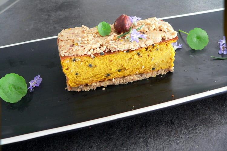 Gâteau aux carottes et son crumble aux fruits secs