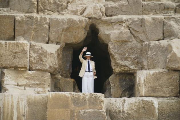 Melania Trump vous fait coucou en Egypte