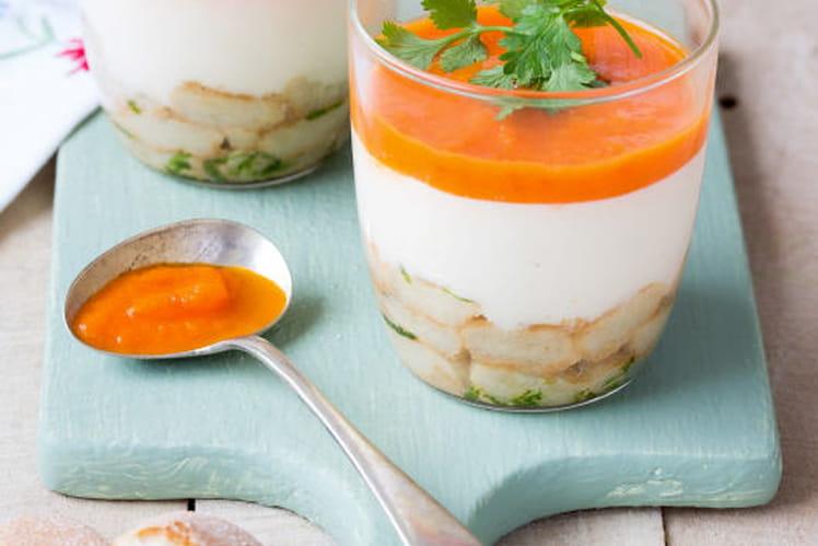 Tiramisu de crabe aux Boudoirs Thaï