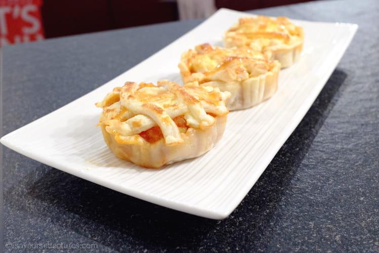 Tartelettes courge/tomates/Féta