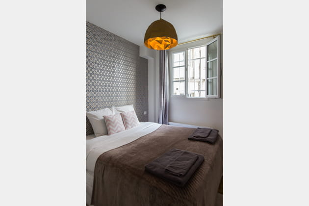 Chambre taupe graphique