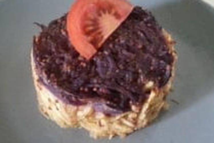 Galette de courgettes et pommes de terre vitelotte au paprika