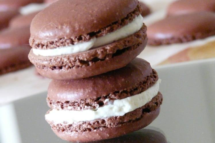Macarons chocolat Yuzu