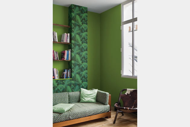 peinture greenery tollens x pantone. Black Bedroom Furniture Sets. Home Design Ideas