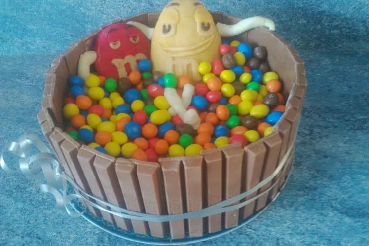Gâteau d'anniversaire M&M's
