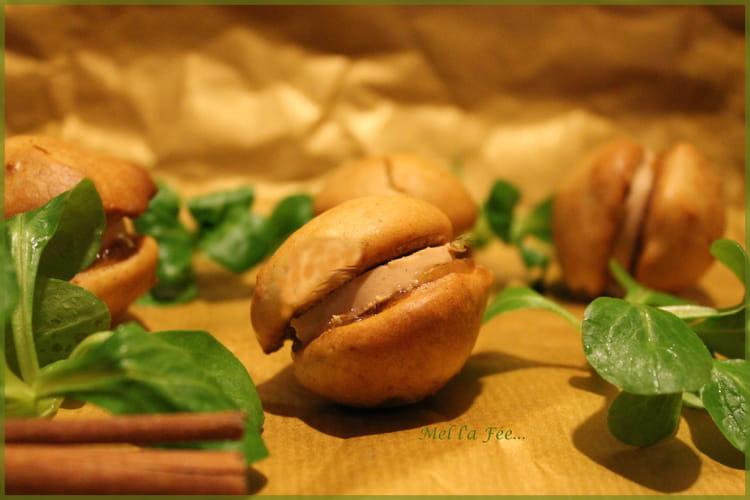 Woopie épicé au foie gras