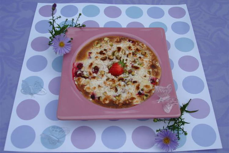 Sabayon meringué aux fruits rouges et à la violette