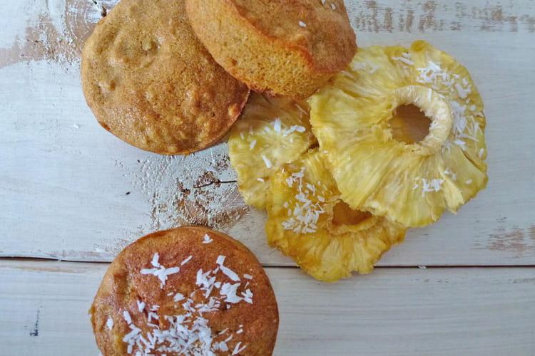 Muffins vegan ananas-coco