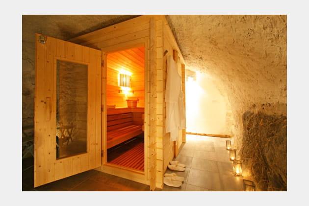 Un sauna dans la pierre