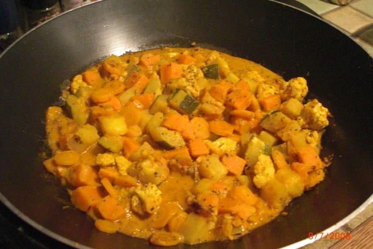 Curry de légumes à la crème de coco et citrons verts