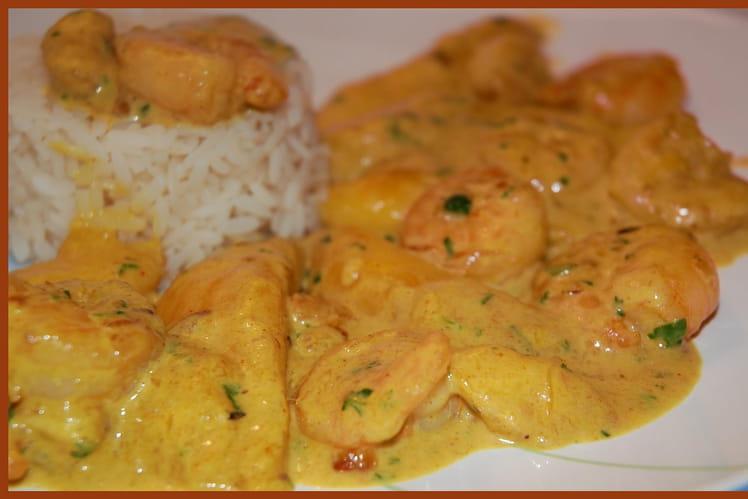 Curry de crevettes à la mangue