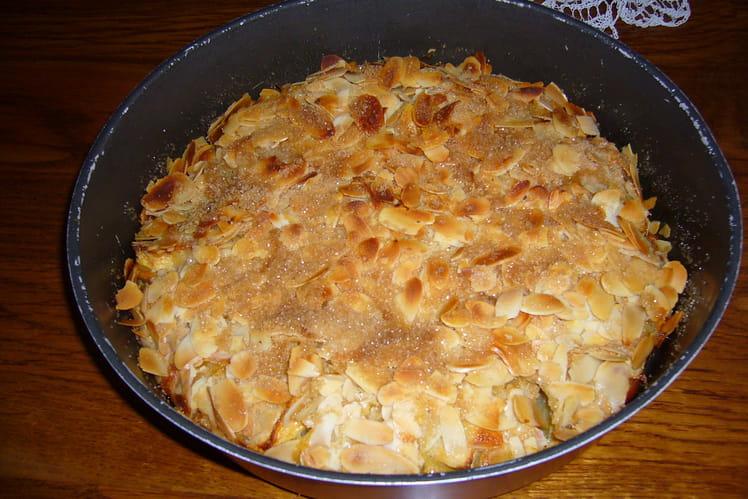 Gâteau pommes et amandes