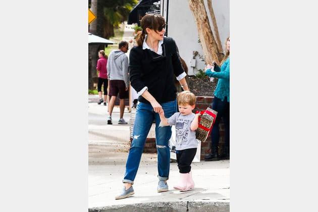 Jennifer Garner et le jean boyfriend élimé