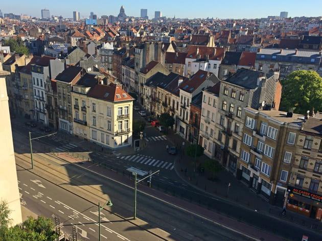 Vue panoramique sur le toit du Wiels