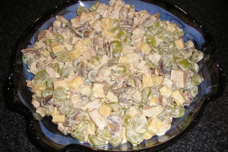 Salade de poulet et champignons