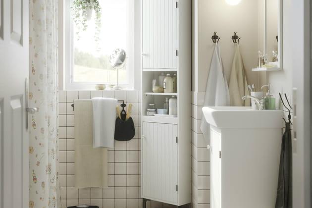 Un meuble d 39 angle Meuble d angle pour salle de bain
