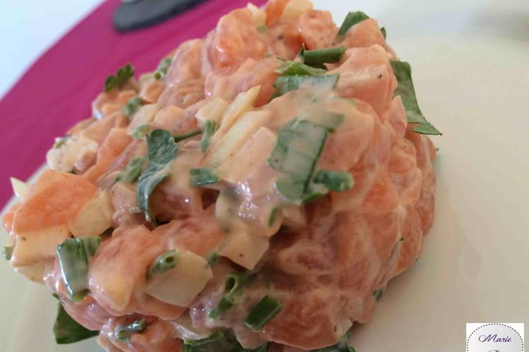 Tartare de saumon gourmand