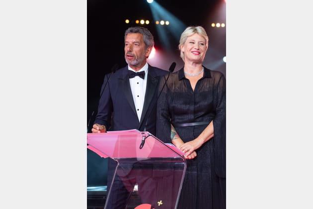 Michel Cymes et Maïtena Biraben