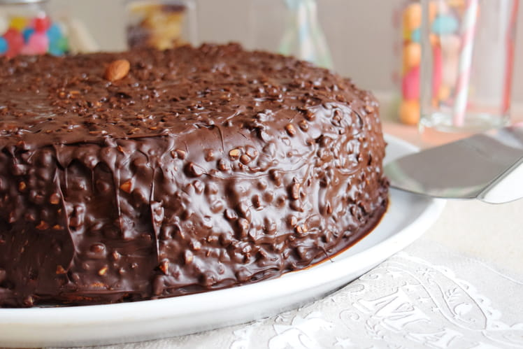 Moelleux croquant au chocolat et aux amandes