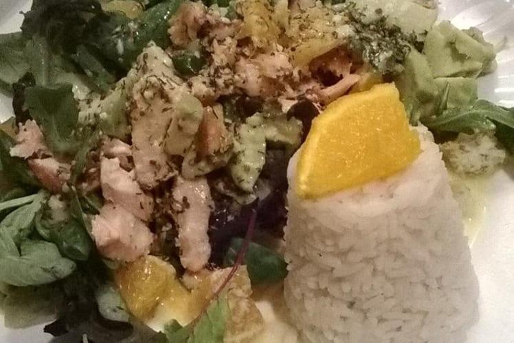 Salade saumon et agrumes