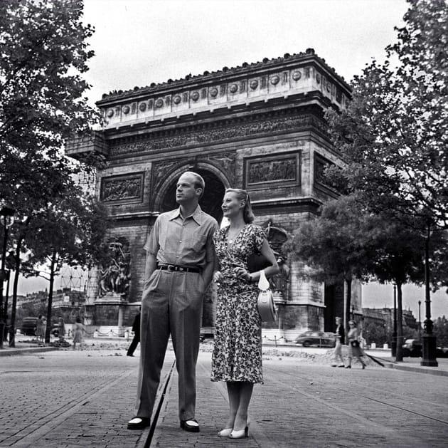 Triomphe avec son mari, l'acteur, producteur et réalisateur américain William Marshall